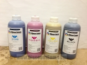 Eco Solvent CMYK Vibrant Colors Ink SET 4 Colors 1 L Bottles